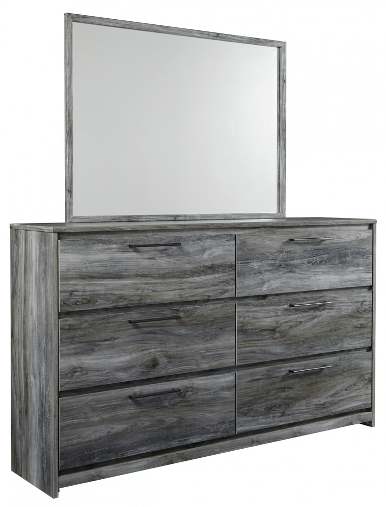 Baystorm Queen Panel Bed With 6 Storage Drawers With Mirrored Dresser And Chest B221 46 B4 B1 Bedroom Groups Cummings Furniture
