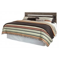 Cazenfeld - King/California King Panel Headboard with Mirrored Dresser, Chest and 2 Nightstands