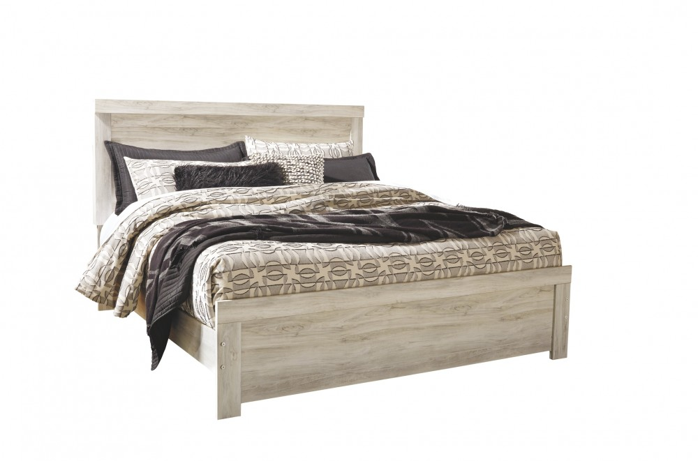 Bellaby - King Panel Bed with Mirrored Dresser and 2 Nightstands