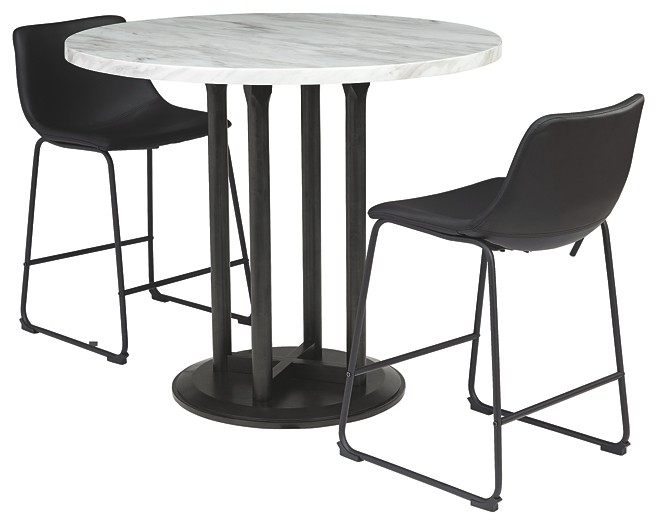 Centiar - Counter Height Dining Table and 2 Barstools