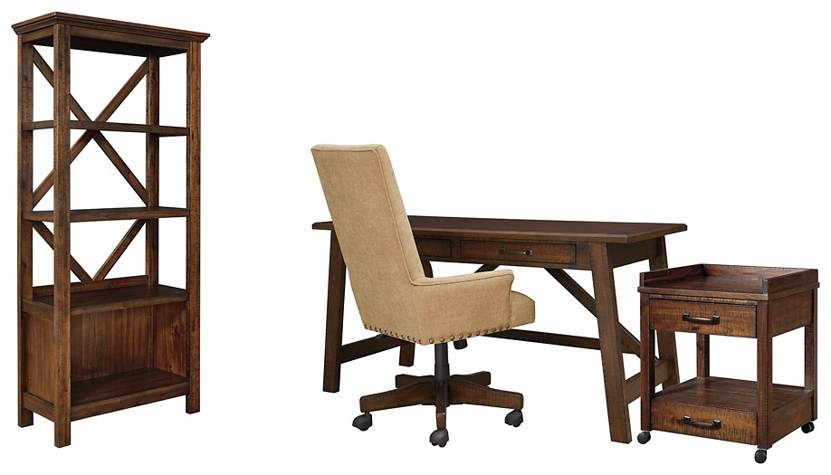 Baldridge - Home Office Desk with Chair and Storage