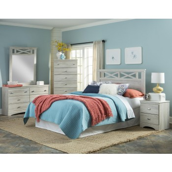 4pc Cottage White Queen Bedroom Set