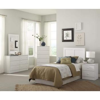 4pc White Queen Bedroom Set