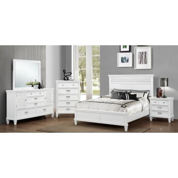 6pc Ocean View Queen White Bedroom Set