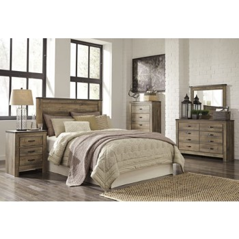 4pc Queen Trinell Rustic Bedroom Set