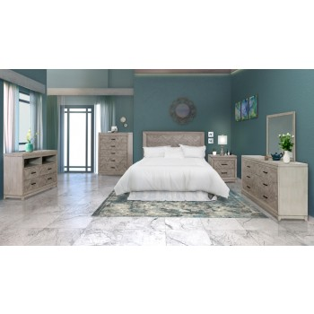 4pc King Two Tone Bedroom Set
