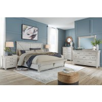 Brashland - Queen Panel Bed with Mirrored Dresser and 2 Nightstands