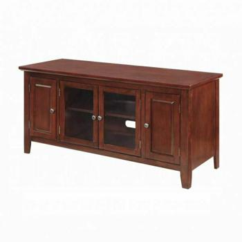 Acme Christella Tv Stand 10340 Cherry For Flat Screens Tvs Up To 60 10340 Tv Stands And Media Centers Galaly Furniture