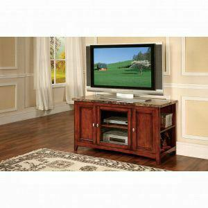 Acme Finely Tv Stand 91000 Faux Marble Cherry For Flat Screens Tvs Up To 60 91000 Tv Stands And Media Centers Galaly Furniture