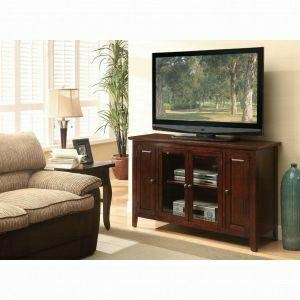 Acme Vida Tv Stand 91014 Espresso For Flat Screens Tvs Up To 60 91014 Tv Stands And Media Centers Galaly Furniture