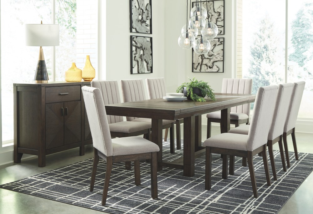 Dellbeck Dining Table And 8 Chairs With Storage D748 60 45 01 8 Dining Room Groups Furniture Mart