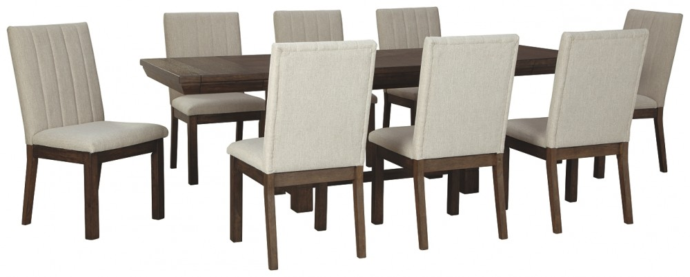 Dellbeck - Dining Table and 8 Chairs
