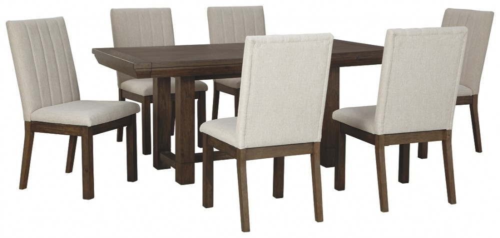 Cucina Letters Kitchen Decor, Dellbeck Dining Table And 6 Chairs D748 45 01 6 Dining Room Groups Price Busters Furniture