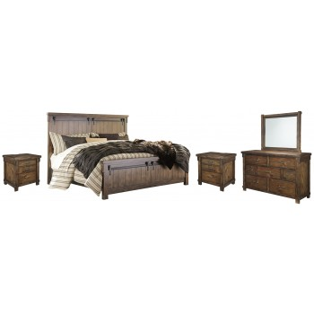 Lakeleigh - Queen Panel Bed with Mirrored Dresser and 2 Nightstands