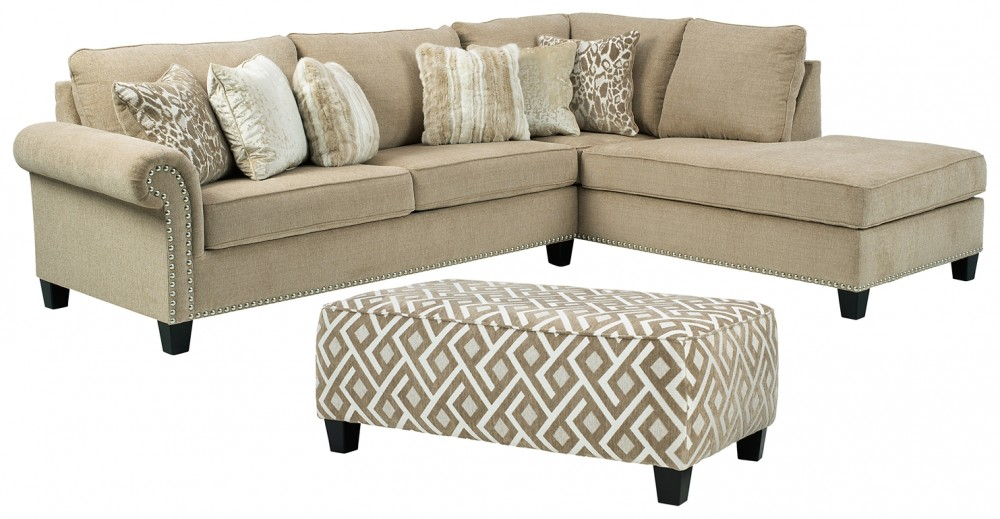 Dovemont - 2-Piece Sectional with Ottoman