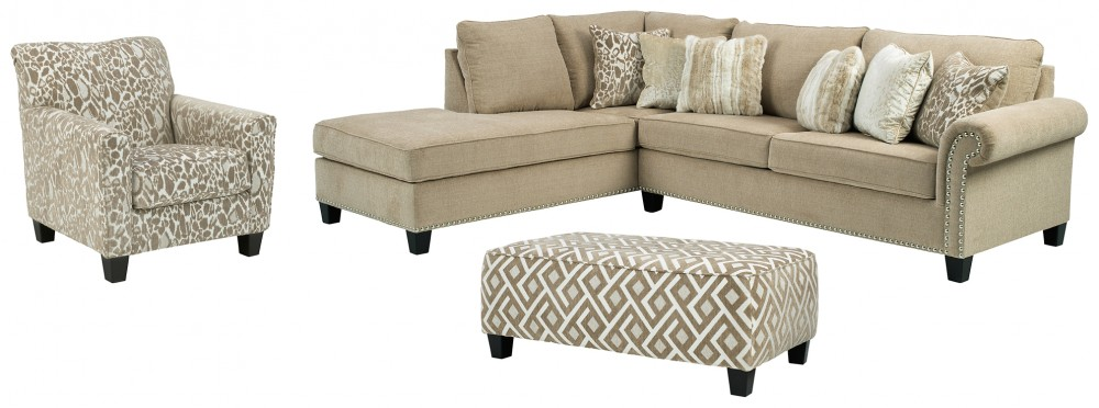 Dovemont - 2-Piece Sectional with Chair and Ottoman