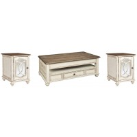 Realyn - Coffee Table with 2 End Tables