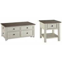 Bolanburg - Coffee Table with 1 End Table
