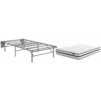 Chime 10 Inch Hybrid - Twin Mattress with Foundation