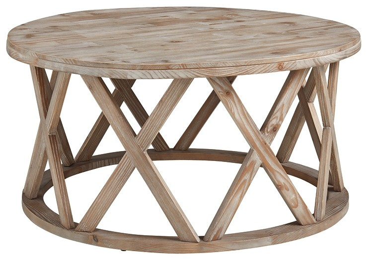 glasslore round cocktail table