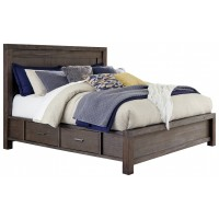 Dellbeck - King Panel Bed with 4 Storage Drawers