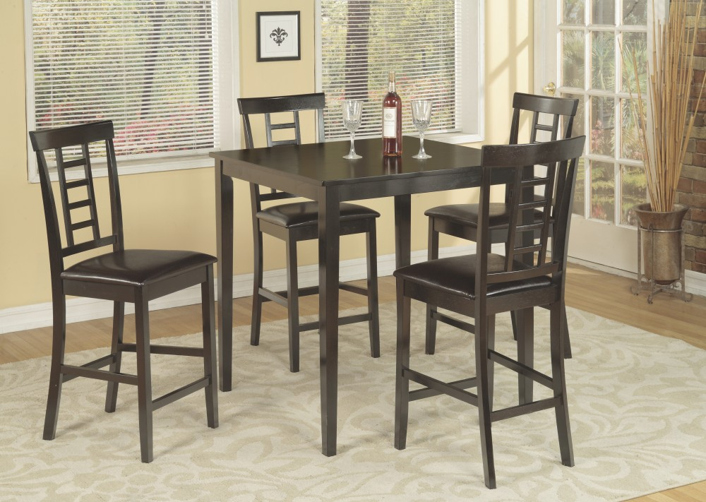 Pub Brown Table + 4 Chairs