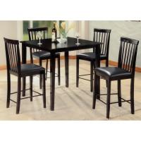 Pub Black Table + 4 Chairs