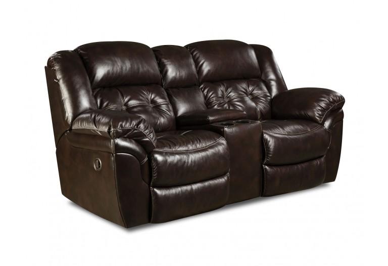 Clanton Leather Reclining Loveseat