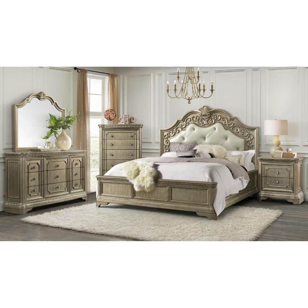 Vicenza Queen Bed Dresser Mirror  Vicenza  Bedroom Sets  Price