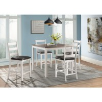 Edgerton Table with 4 Chairs Counter High