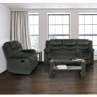 Barron Grey Reclining Sofa & Love