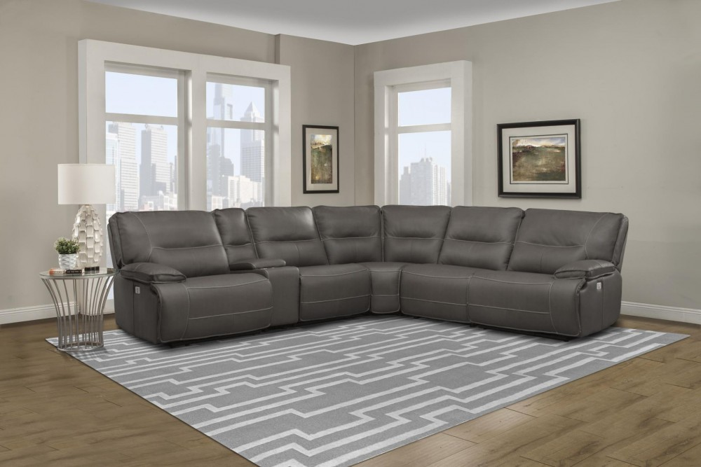 Spartacus 6 Piece Power Recliner Sectional