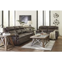 Hannalore Leather Sofa & Love Seat Set