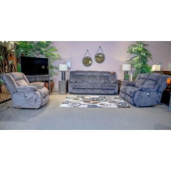 53803 Burkner Mocha Power Reclining Sofa and Loveseat