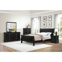 Mayville 4Pc Qn, Bed, Drs, Mir & Stand