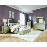 Penthouse 4 Pieces QN bed, drs, mir & stand