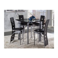 Sona 5 Piece, Counter Hg Table & 4 Stool