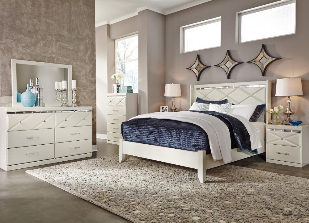 Dreamur Qn 4 Piece Bed, Drs, Mir & Stand