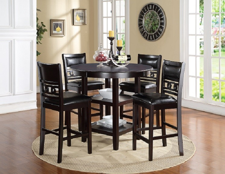 Gia 5 Piece Counter Dinette. Table Plus 4 Stool