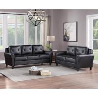 Kristy Black Sofa & Love