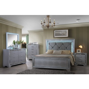 Charles Light up Dresser Mirror Light up Queen Bed