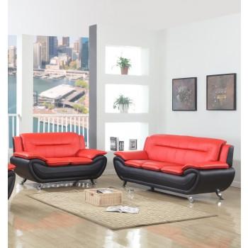 Brenda Red & Black Sofa Love