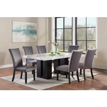 Croix Table & 4 Gray Chairs