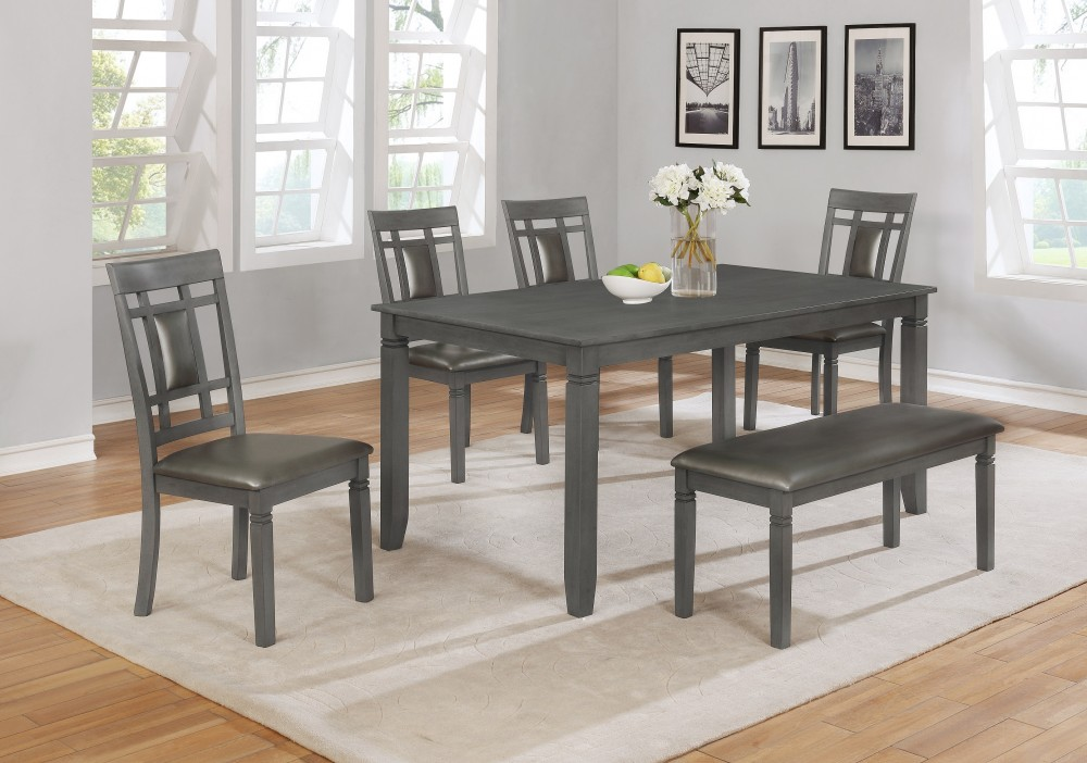 Sara Table + 4 Chairs & Bench