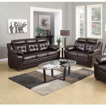Myer Brown Sofa & Love