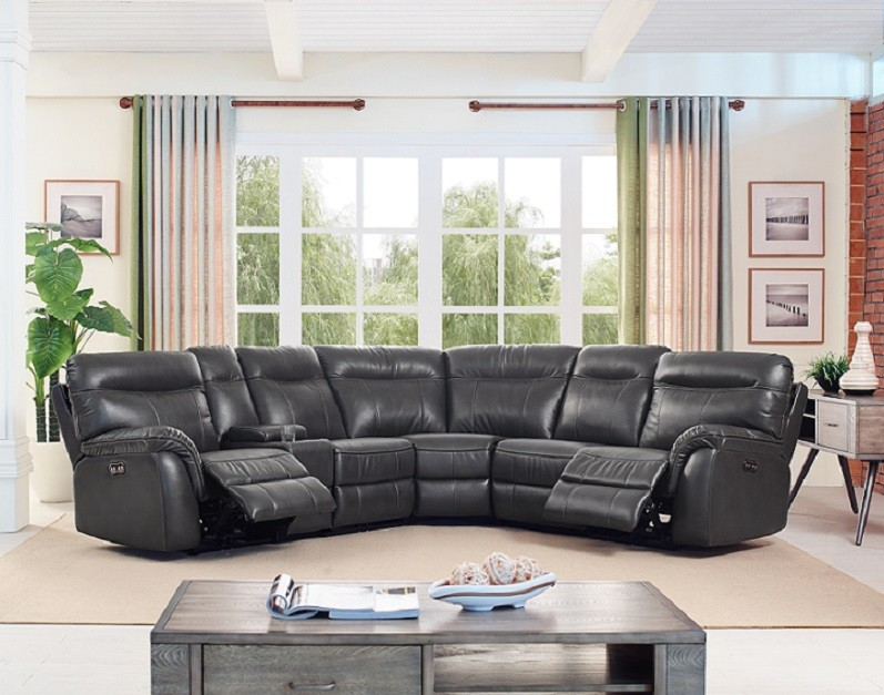 Atlas 6pc sectional includes 3 power recliners