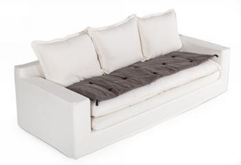 Divani Casa Bayberry - Bohemian Dark Grey Fabric Seat Cushion