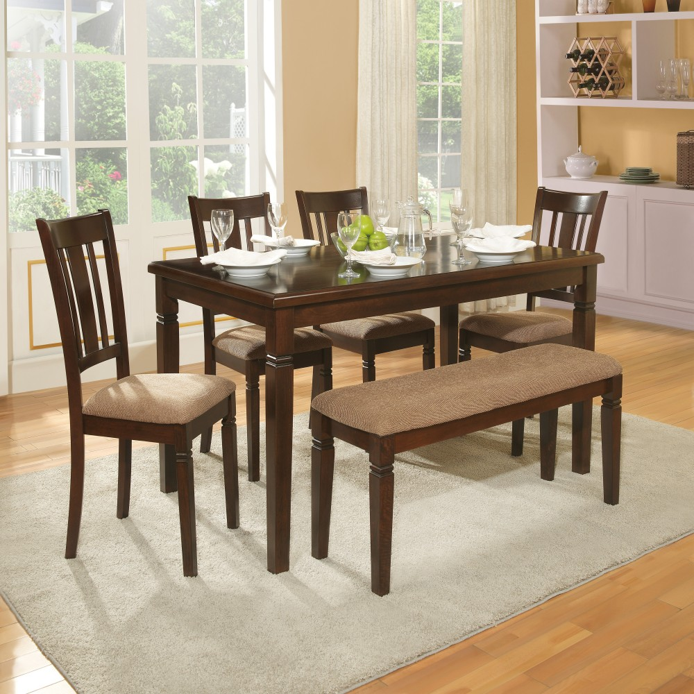 Devlin 6 Piece Table + 4 Chair & Bench