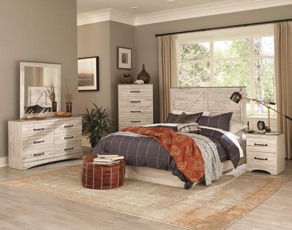 4pc Sanibel Grey Queen Bedroom Set