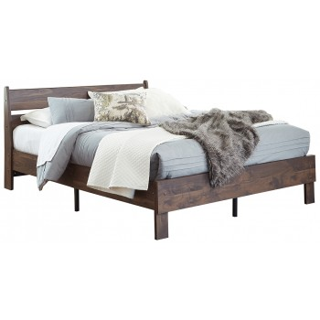 Calverson - Queen Panel Platform Bed